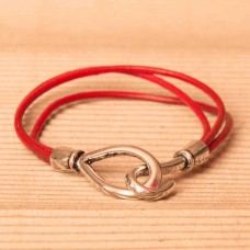 Leather Bracelet with Hook & Clasp