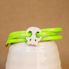 Suede Skull Bracelet