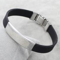 Silicone & Stainless Steel UNISEX Bracelet