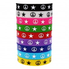 ETHAN Hot Pink Peace & Stars Bracelet