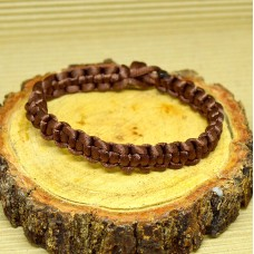 Braided Infinity Bracelet - Brown