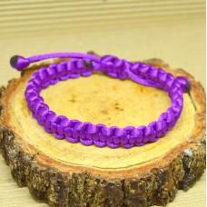 Braided Infinity Bracelet - Purple