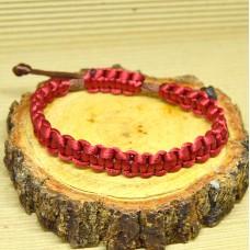 Braided Infinity Bracelet - Red