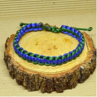 Braided Infinity Bracelet - Blue/Green