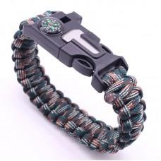 Mens Paracord Survival Bracelet Mix colour