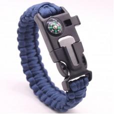 Mens Paracord Survival Bracelet Blue colour