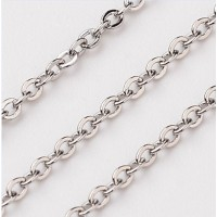 Custom 2mm  Oval Link chain Short Necklace