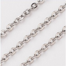 Custom 2mm  Oval Link chain Bracelet