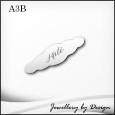 Custom Engraved Stainless Steel Baby Brooch