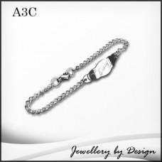 Custom Engraved Stainless Steel Baby Bracelet
