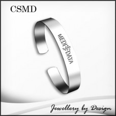 Custom Engraved Stainless Steel Medical Cuff