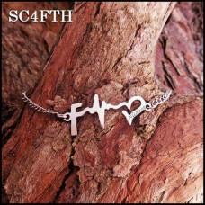 Custom Stainless Steel Faith Hope Love Bracelet