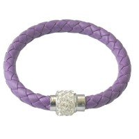 ETHAN Leather Bracelet with Sparkle Clasp