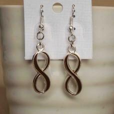 Alloy Infinity Earrings