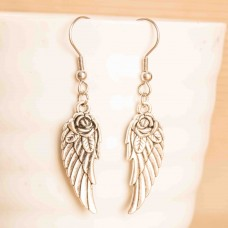 Stainless Steel Wing Earrings
