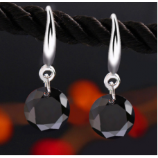 Rhodium Plated Drop Earrings