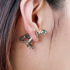 3D Double Sided Ear Post Stud Earrings