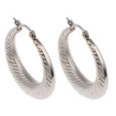 32mm Stainless Steel Hoop Earrings