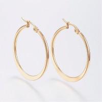 Gold Plated Stainless Steel Hoop Earrings