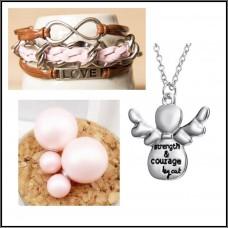3Pc Set with Necklace, Bracelet & Earrings