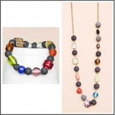 2Pc Set with Necklace & Bracelet