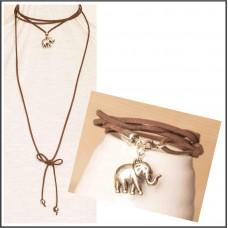 2Pc Choker Set with Necklace & Bracelet
