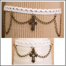 2Pc Choker Set with Necklace & Bracelet