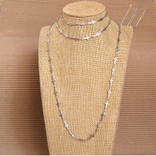 3Pc Stainless Steel Set with Necklace, Bracelet & Anklet