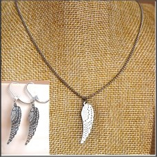 2Pc Stainless Steel Set with Necklace & Earrings