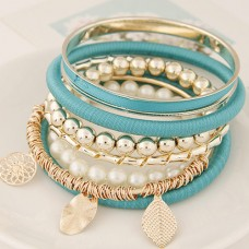 Turquoise Alloy Bangle Set