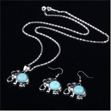 2Pc Turquoise Jewellery Set