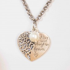 3Pc Cream Mother Set with Necklace, Bracelet & Earrings