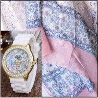 2Pc Set with Scarf & Watch