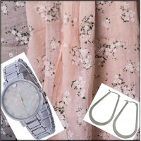 3Pc Set with Scarf, Earrings & Watch