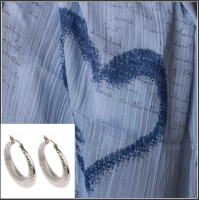 3Pc Set with Scarf & Earrings
