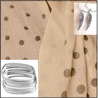 4Pc Set with Scarf, Bangles & Earrings