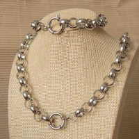 12mm Rolo Stainless Steel Set with 65cm Necklace & Bracelet
