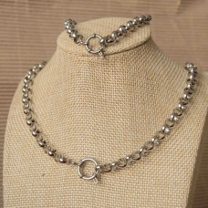 7mm Rolo Stainless Steel Set with 53cm Necklace & Bracelet