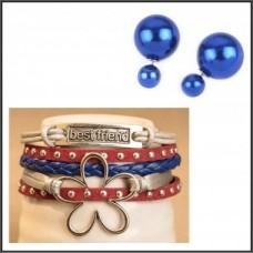 2Pc Set with Bracelet & Earrings