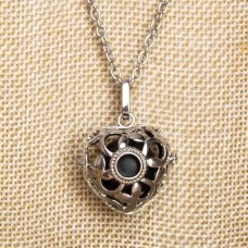 Bell Cage Necklace with Friligree detail