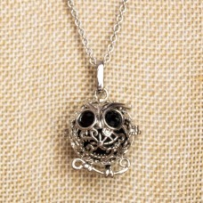 Bell Cage Necklace with Owl Wish Box