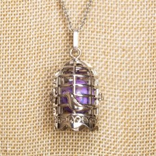 ETHAN Bell Cage Necklace with Bird Cage Wish Box