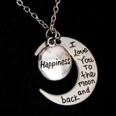 Heart Moon Necklace