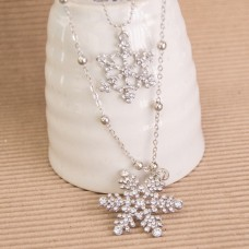 Snowflace Silver Plated Necklace