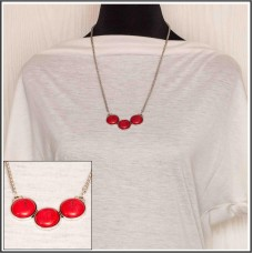 Red Howlite Pendant Necklace