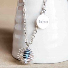 Believe/Inspire Spiral Cage Necklace