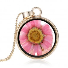 Plated Dried Flower Necklace