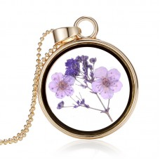 ETHAN Plated Dried Flower Necklace