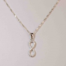S925 Sterling Silver Cubic Infinity Necklace