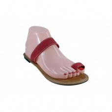 Red Ladies Sandals Size 4